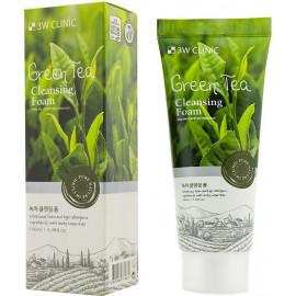 Пенка для умывания натуральная ЗЕЛЕНЫЙ ЧАЙ 3W CLINIC Green Tea Foam Cleansing 100 мл в рассрочку по Халве