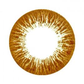 Цветные линзы HERA Rise Brown на 3мес. от 0 до -8дптр (2шт)