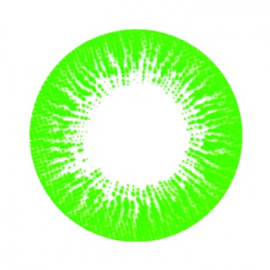 Цветные линзы HERA Rise Green на 3мес. от 0 до -8дптр (2шт)