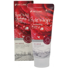 Пенка для умывания натуральная РОЗОВАЯ ВОДА 3W CLINIC Rose Water Foam Cleansing 100 мл