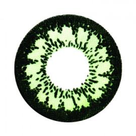 Цветные линзы HERA Party Green на 3мес. от 0 до -8дптр (2шт)