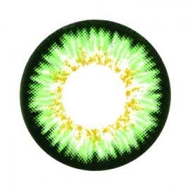 Цветные линзы HERA Paradise Green на 3мес. от 0 до -8дптр (2шт)