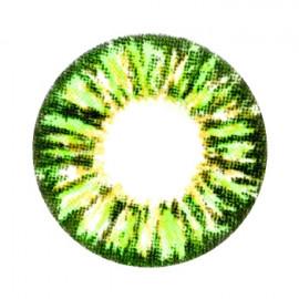 Цветные линзы HERA Glamour Green на 3мес. от 0 до -8дптр (2шт)