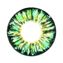 Цветные линзы HERA Glamour Aqua на 3мес. от 0 до -8дптр (2шт)