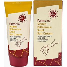 Солнцезащитный крем FarmStay с муцином улитки Visible Difference Snail Sun Cream SPF50+ PA+++ 70г