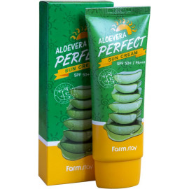 Солнцезащитный крем FarmStay Aloevera Perfect Sun Cream SPF 50+/PA+++ 70г c бесплатной доставкой