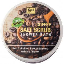 Антицеллюлитный соляной скраб YOKO с кофе 240 г в рассрочку по Халве