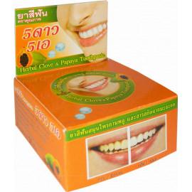 Круглая зубная паста 5 STAR с экстрактом папайи 25 гр