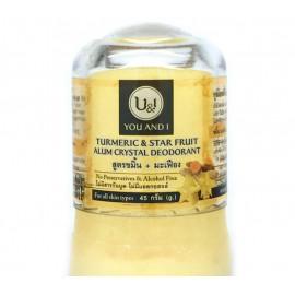 Кристаллический дезодорант U & I Турмерик и карамбола 45 гр