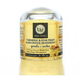 Кристаллический дезодорант U & I Турмерик и карамбола 80 гр