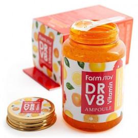 Ампульная витаминная сыворотка FarmStay DR-V8 Vitamin Ampoule 250 мл