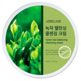 Очищающий крем для снятия макияжа LEBELAGE с экстрактом зеленого чая 300мл
