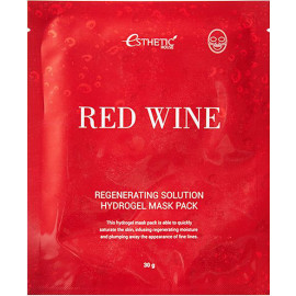 Гидрогелевая маска для лица Esthetic House RED WINE REGENERATING SOLUTION 1 шт