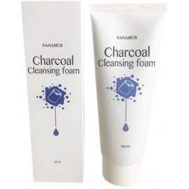 Пенка для умывания NANAMUS с углем CHARCOAL FOAM CLEANSING 100 мл