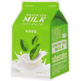 Тканевая маска для лица APIEU Green Tea Milk One-Pack