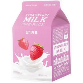 Тканевая маска для лица APIEU Strawberry Milk One-Pack