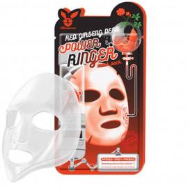 Тканевая маска для лица Elizavecca с Красным Женьшенем RED gInseng DEEP PQWER Ringer mask pack