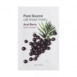 Маска для лица на тканевой основе MISSHA Pure Source Cell Sheet Mask Acai Berry