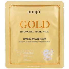 Маска для лица гидрогелевая Petitfee c ЗОЛОТОМ Gold