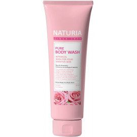 Гель для душа NATURIA РОЗА, РОЗМАРИН PURE BODY WASH Rose & Rosemary 100 мл