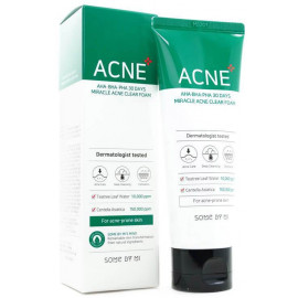 Пенка с кислотами SOME BY MI AHA BHA PHA 30 DAYS MIRACLE ACNE CLEAR FOAM