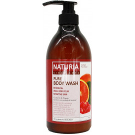 Гель для душа NATURIA КЛЮКВА/АПЕЛЬСИН PURE BODY WASH Cranberry & Orange 750 мл