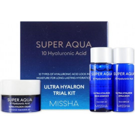 Набор MISSHA Super Aqua Ultra Hyalron Trial Kit Miniature set Тонер/Эмульсия/Крем