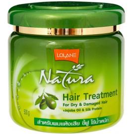 Маска LOLANE для сухих и поврежденных волос с маслом жожоба и протеинами шелка 500 гр