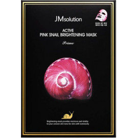 Тканевая маска Jmsolution с муцином улитки Active Pink Snail Brightening Mask Prime
