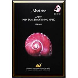 Тканевая маска Jmsolution с муцином улитки Active Pink Snail Brightening Mask Prime в рассрочку по Халве