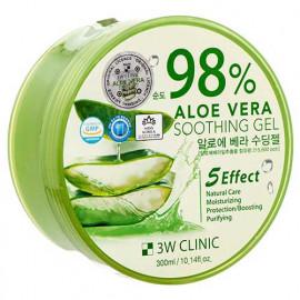 Гель универсальный АЛОЭ 3W CLINIC Aloe Vera 98% 300 гр