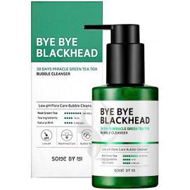 Пенка-маска SOME BY MI кислородная BYE BLACKHEAD 30 DAYS MIRACLE GREEN TEA TOX BUBBLE CLEAN 120 гр