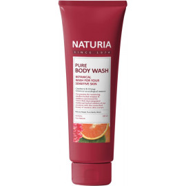 Гель для душа NATURIA КЛЮКВА/АПЕЛЬСИН PURE BODY WASH Cranberry & Orange 100мл