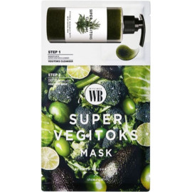 Маска тканевая WONDER BATH SUPER VEGITOKS MASK PACK GREEN 25 мл