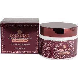 Осветляющий увлажняющий крем Enough с муцином улитки и золотом Gold Snail Moisture Whitening Cream