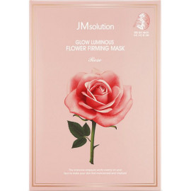 Тканевая маска Jmsolution для сияния с экстрактом дамасской розы Glow Luminous Flower Firming Mask-Rose