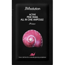 Пробник Сыворотка 3 в 1 Jmsolution с муцином улитки Active Pink Snail All In One Ampoule Prime