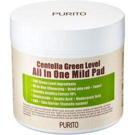 Пилинг-диски Purito с центеллой азиатской Centella Green Level All In One Mild Pad 70 шт