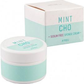Крем для лица A'pieu точечный для жирной кожи Mintcho Sebum Free Sponge Cream 50гр [s]