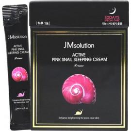 Ночной крем JMsolution с муцином улитки Active Pink Snail Sleeping Cream 4 мл c бесплатной доставкой