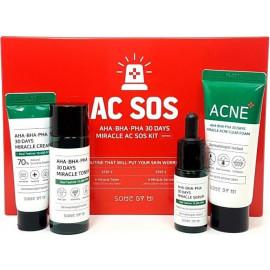 Набор SOME BY MI кислотных средств для проблемной кожи AHA-BHA-PHA 30 Days Miracle AC SOS Kit