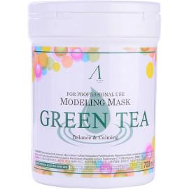 Маска альгинатная ANSKIN с экстрактом зеленого чая успокаивающая Green Tea 240 гр (банка)