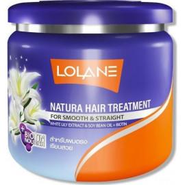 Выпрямляющая маска для волос LOLANE c экстрактом белой лилии 100 мл