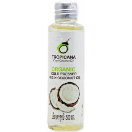 Кокосовое масло TROPICANA Organic cold pressed virgin coconut oil  50 мл купить
