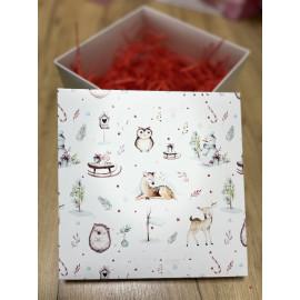 Коробка подарочная Яркие Цветы 20*20*20
