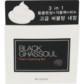 Туалетное мыло-пенка MISSHA для лица Black Ghassoul Foam Cleansing Bar 80г
