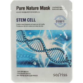 Маска для лица Anskin тканевая Secriss Pure Nature Mask Pack- Stem cell 25мл