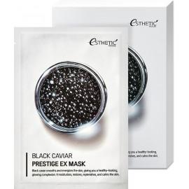 Тканевая маска для лица Esthetic House ЧЕРНАЯ  ИКРА BLACK CAVIAR PRESTIGE EX MASK