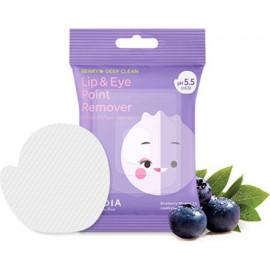 Мицеллярные диски Frudia для снятия стойкого макияжа Blueberry Micellar 5.5 Lip & Eye Remover 30 шт