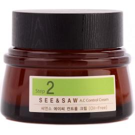 Крем The SAEM для контроля чистоты и жирности кожи SEE & SAW AC CONTROL CREAM 50 мл